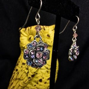 WOW!! Retired Brighton Floral Earrings - Stunning
